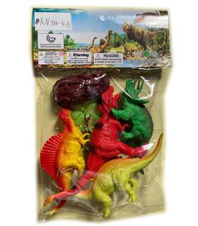 ГУМЕНИ ДИНОЗАВРИ 4 БР. В ПЛИК - Динозаври